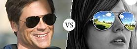Sunglasses vs Aviators