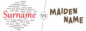Difference between Surname and Maiden Name