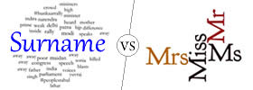 Difference between Surname and Title