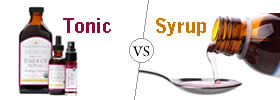Difference between Tonic and Syrup