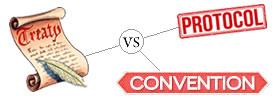 Treaty vs Protocol vs Convention