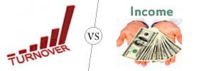 Turnover vs Income