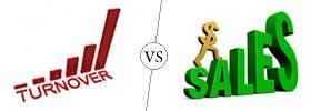 Turnover vs Sales