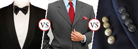 Difference between Tuxedo, Suit and Blazer