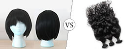 Difference between Wig and Weave