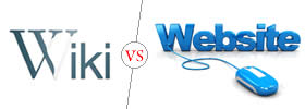 Difference between Wiki and Website
