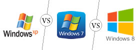 Windows XP vs Windows 7 vs Windows 8