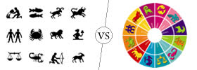 Difference between Zodiac Sign and Rashi