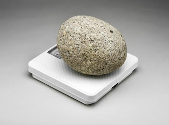 how many stones is 100 pounds