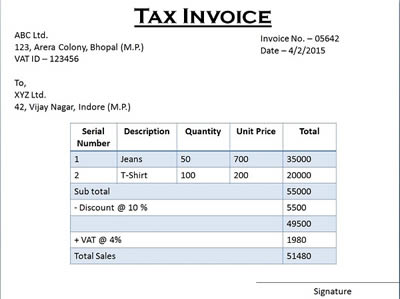 Difference Between Tax Invoice And Retail Invoice Tax Invoice Vs - How to invoice someone