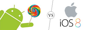 Android Lollipop vs Apple iOS 8