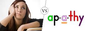 Boredom vs Apathy