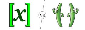 Brackets vs Parentheses