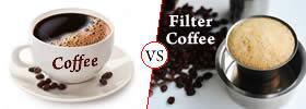 Coffee vs Filter Coffee
