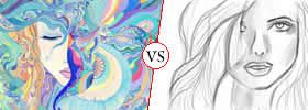 Drawing vs Sketching