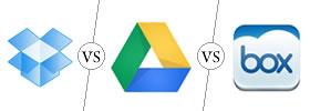Dropbox vs Box vs Google Drive