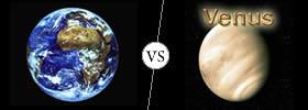 Earth vs Venus