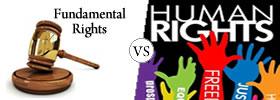 Fundamental Rights vs Human Rights