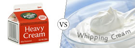 Heavy Cream vs Whipping Cream