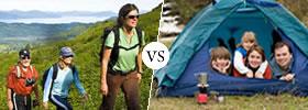 Hiking vs Camping