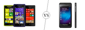 HTC Windows 8X vs Blackberry Z10