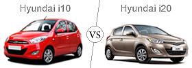 Hyundai i10 vs Hyundai i20