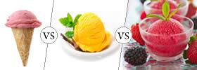 Ice Cream vs Gelato vs Sorbet