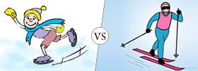 Ice Skating vs Skiing