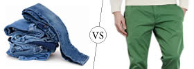 Jeans vs Chinos