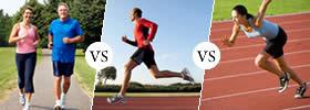Jogging vs Running vs Sprinting