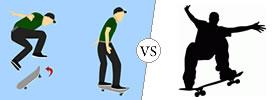 Kickflip vs Heelflip