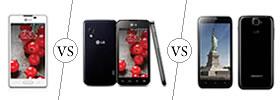 LG Optimus L5 II vs L5 II Dual vs Karbonn Titanium S5