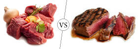 Meat vs Steak