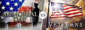 Memorial Day vs Veterans Day
