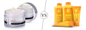 Moisturizer vs Sunscreen