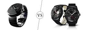 Motorola Moto 360 vs LG G Watch R