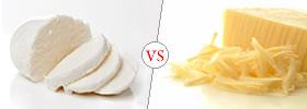 Mozzarella Cheese vs Cheddar Cheese