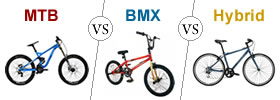 MTB vs BMX vs Hybrid Cycle