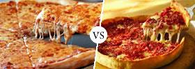New York Pizza vs Chicago Pizza