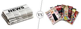 Newspaper vs Magazine