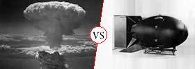 Nuclear Bomb vs Atom Bomb