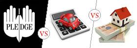 Pledge vs Hypothecation vs Mortgage