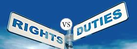 Rights vs Duties