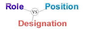 Role vs Position vs Designation