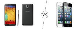 Samsung Galaxy Note 3 vs iPhone 5