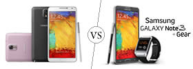 Samsung Galaxy Note 3 vs Samsung Galaxy Note 3 with Gear