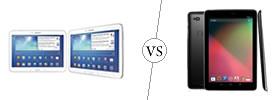 Samsung Galaxy Tab 3 10.1 vs Nexus 10