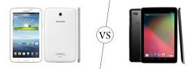 Samsung Galaxy Tab 3 7.0 vs Nexus 10