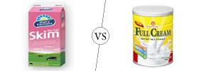 Skimmed Milk vs Full Cream Milk