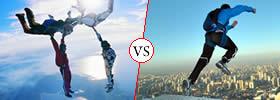 Skydiving vs Base Jumping